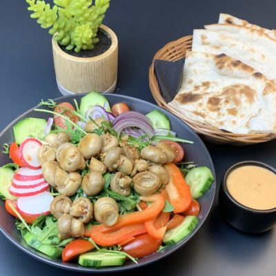 Rucola Champignons Salat
