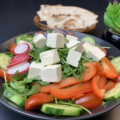 Rucola Paneer Salat